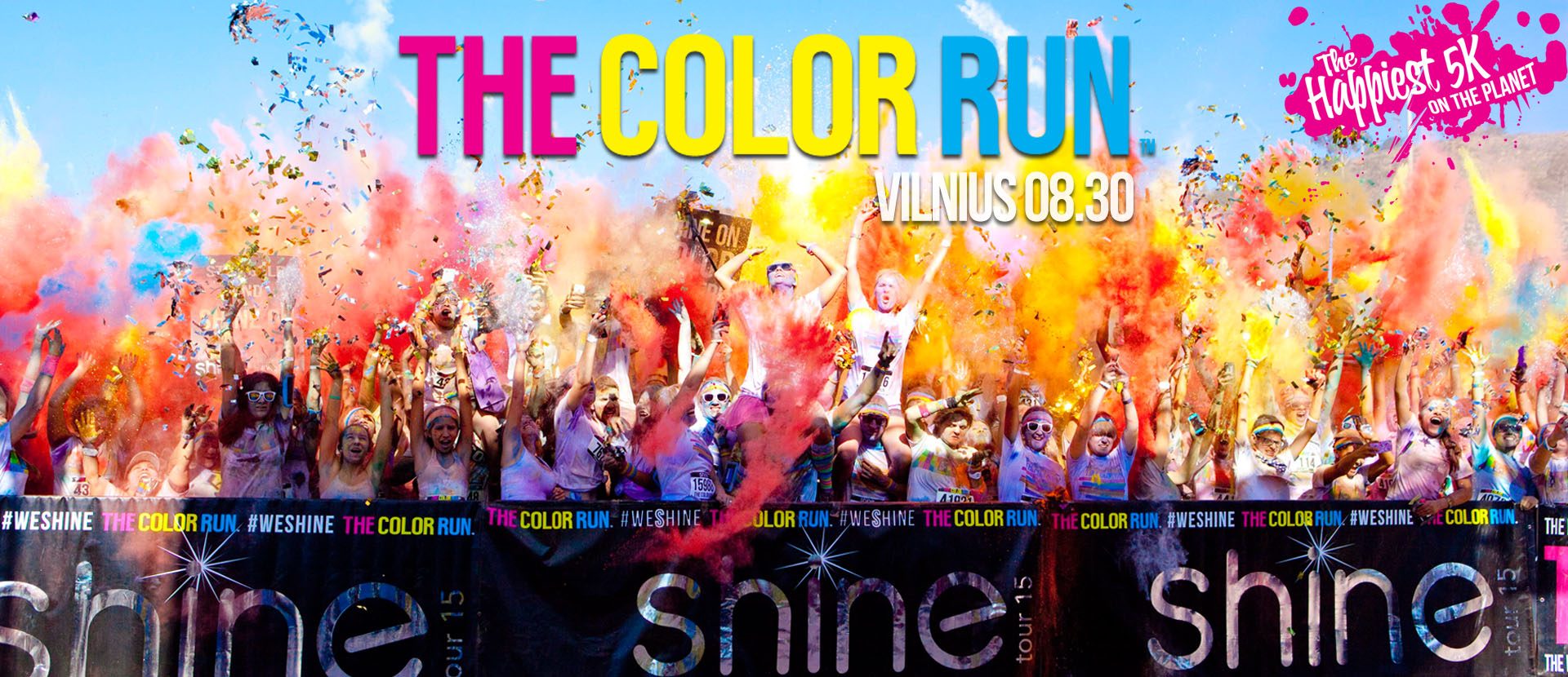 THE COLOR RUN spalvotas bėgimas