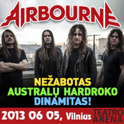 """Airbourne"" koncertas (hard rock; Australia)"