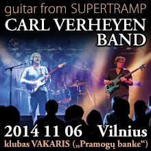 """Carl Verheyen Band"" koncertas (guitar from ""Supertramp"")"
